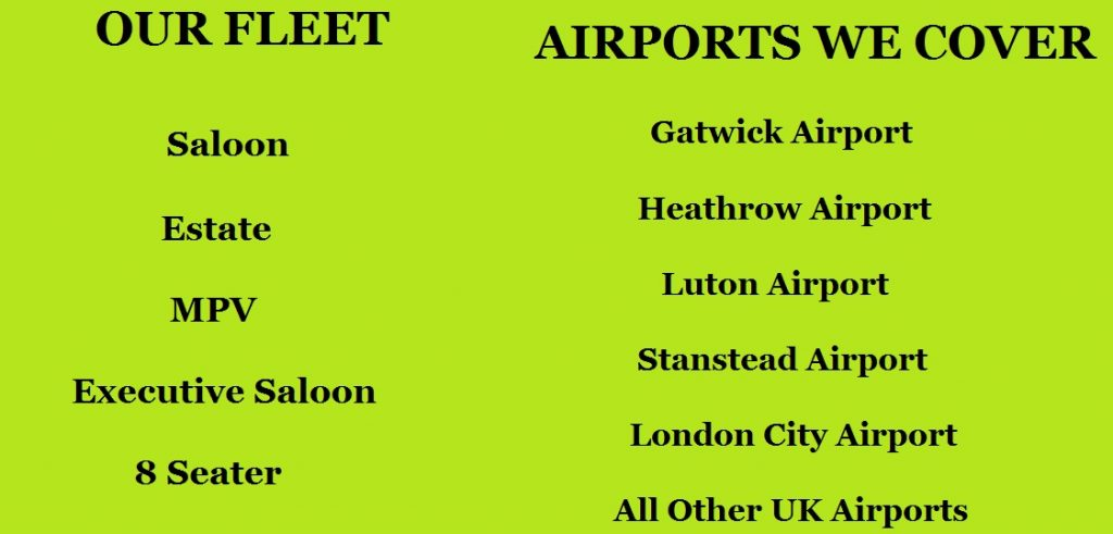 Mitcham Gatwick Airport Taxi & Minicab Service